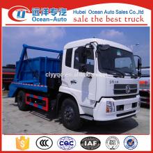 Dongfeng kingrun 8cbm capacidade de balanço braço desperdício caminhão