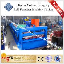 China Metall verglasten Dachziegel kalt Walze Formmaschine für den Bau, Stahl Fliesen machen Maschine