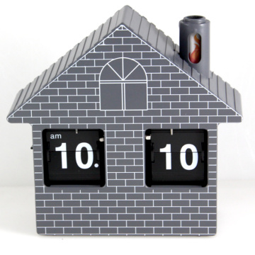 Red House Flip Clock Horloge de bureau