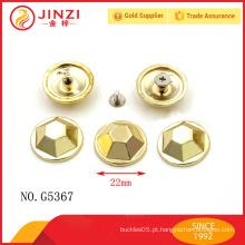 Made in china handbags hardware zinco liga rebites e pregos para saco
