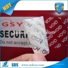 Garantia de segurança personalizada e inviolável, nula, fita azul, fitas de embalagem à prova de violação