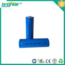 Bateria de lítio e li-ion de 1,5 volts Bateria de lítio fr6 aa