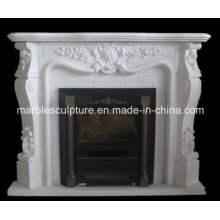 White Natural Marble Fireplace Surround Mantel (SY-MF035)