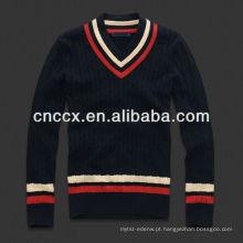 13STC5577 mais recente design de moda com decote em V mens camisola design