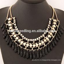 2015 Лето Модные Золотые сплавы Плакировка падение ожерелье для женщин