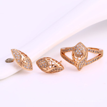 62010 saudi gold jewelry fashion design necklace earring and ring simple and easy