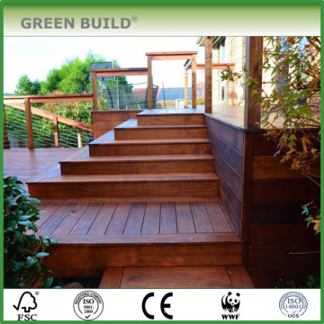 Factory price solid wood outdoor decking