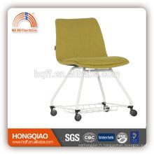 CV-B193BS retour de tissu et siège base de revêtement en poudre avec PU chaise d'école chaise de bureau