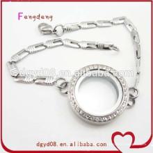 Pulsera de joyería de pulsera de encanto de acero inoxidable al por mayor de alta calidad