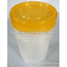 envase de plástico de la preservación de la tapa del tornillo