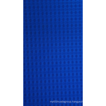 Cationic Double Hexagon Polyester Fabric with PU/PVC Coaitng