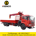 DONGFENG 6x4 Flatbed Truck with 10 Ton Crane