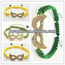 Alliage d'oeil en or avec bracelet tissé diamant