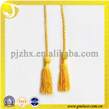 2014 best sell golden decorative Cord With Tassels For Gift
