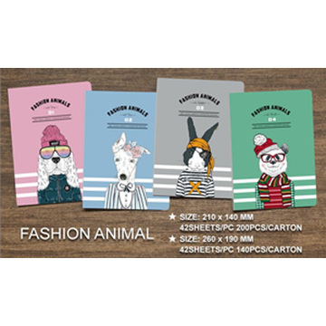 Hot Sale Exercise Notebook with Fashion Animals