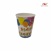 Single Wall Company Logo Paper Cup With PE Coated