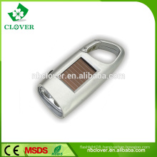 Easy to carry ABS material custom 2 led personalized solar keychain