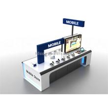 Stand de exibição de computador de publicidade em madeira independente, suporte de exibição de segurança para celular