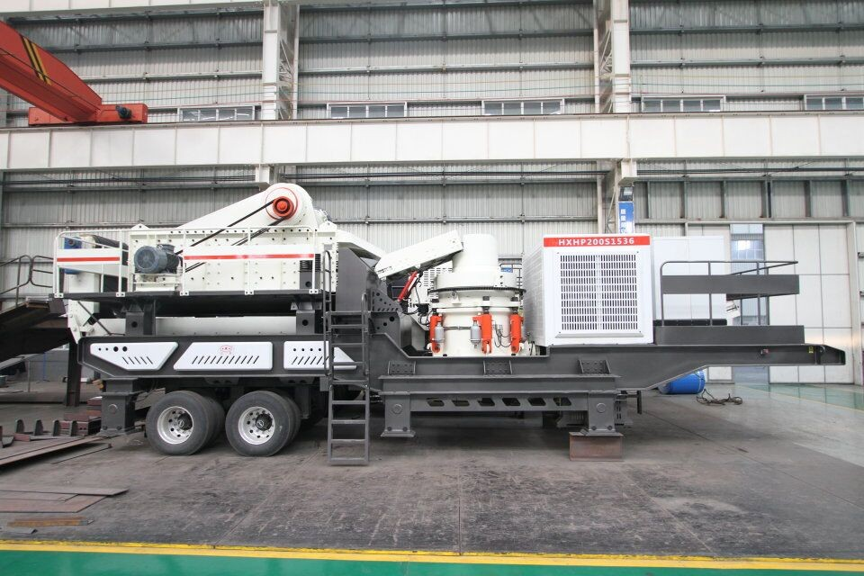 WHEELED MOBILE CONE CRUSHING PLANT