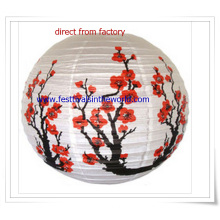 Pringting Flowers Taditional Chinese Paper Lantern for Festival Decoration
