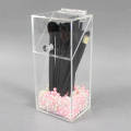 Clear Acrylic Makeup Brush Holder with Lid