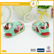 Ningbo factory soft cotton fabric upper TPR outsole baby boy sandal