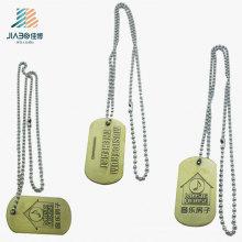 Nuevos productos de promoción Aleación de zinc de encargo logo Bronce colgante de etiquetas