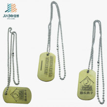 New Products Promotion Zinc Alloy Custom Logo Bronze Pendant Tags