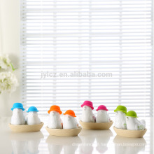 Wedding gift ceramic silicone salt and pepper shakers set