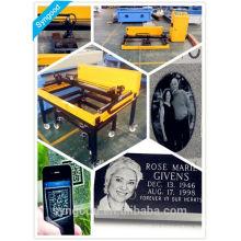 Leve em qualquer lugar como você quiser Portable SG6090 Foto gravura headstone com gravura anjo