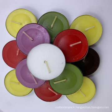 14G Unscented White/Color Plastic Bag Wax Tealight Candle