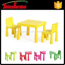 hotsale Färbung Kinder Kind Kinder KD Kunststoff Tisch und Stuhl gesetzt