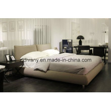 Italian Style Wooden Fabric Bed Furniture (A-B42)