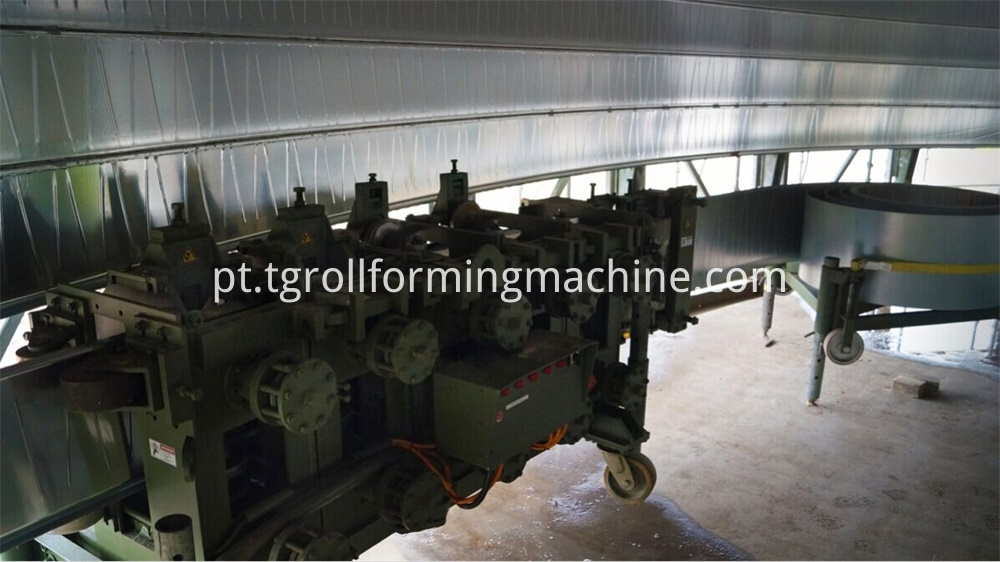 Steel Spiral Grain Bin Silo Machine