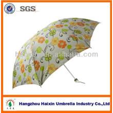 Paraguas plegable promocional HangZhou con estampado de flores