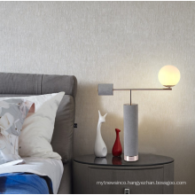 Creative modern cement concrete bed side table lamp for hotel