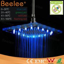 Pomme de douche en verre pluie LED