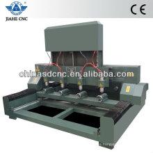 JK-4080 máquina de enrutador cnc de madera con cuatro cabezas y cuatro dispositivos rotativos para grabado de cilindros