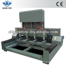 JK-4080 wood cnc router machine with four head and four rotary device for cylinder engraving