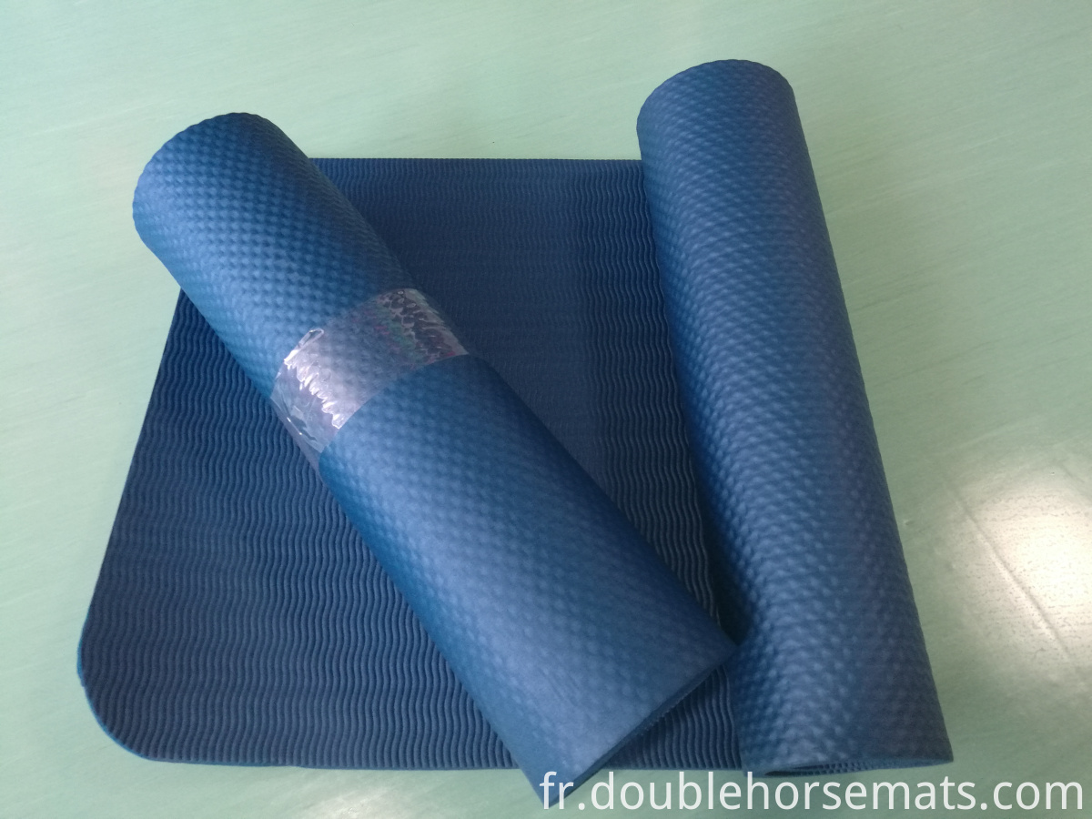 NBR single color embossed exercise mat