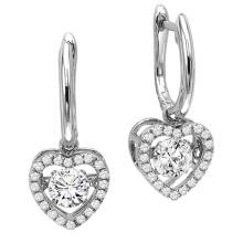 Las ventas calientes 925 plata esterlina cuelgan los pendientes que bailan la joyería del diamante