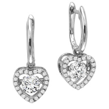 Hot Sales 925 Sterling Silver Dangle Earrings Dancing Diamond Jewelry