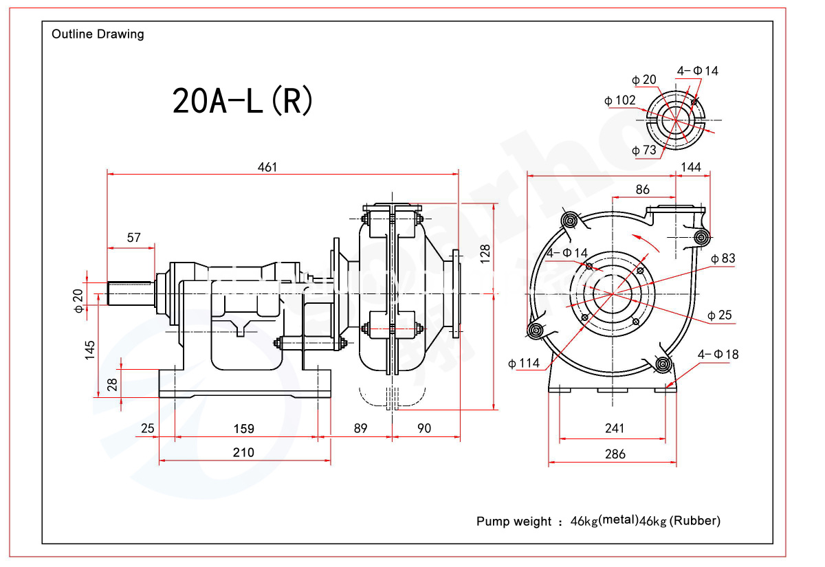 20A-L(R) outine drawing