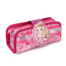 Wholesale Girls Stationary Zipper School Pencil Bag Foldable Kids Custom Pencil Pouch