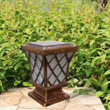 Nuevo estilo americano CE valla luces Solar con Panel Solar de 4W; Iluminación solar valla, valla solar luz para la iluminación de la valla de vinilo