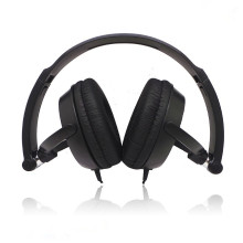 black plastic over head earphone foldable