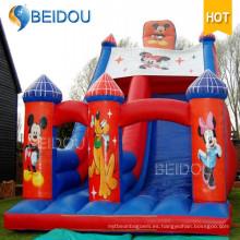 Gorila inflable del castillo animoso congelado de salto de Mickey Mouse popular durable