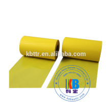 Waterproof barcode label PVC printing yellow color printer ribbon