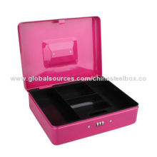 Money Box with Powder Coating Surface, Plastic Tray, Code Lock and Stainless Steel HandleNew