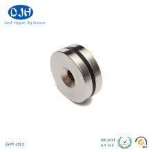 La temperatura máxima de trabajo de los imanes industriales del anillo es 180 grados